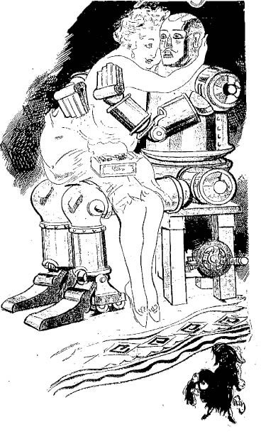 Illustration for article titled Robots for Romantic Old Maids (1928)