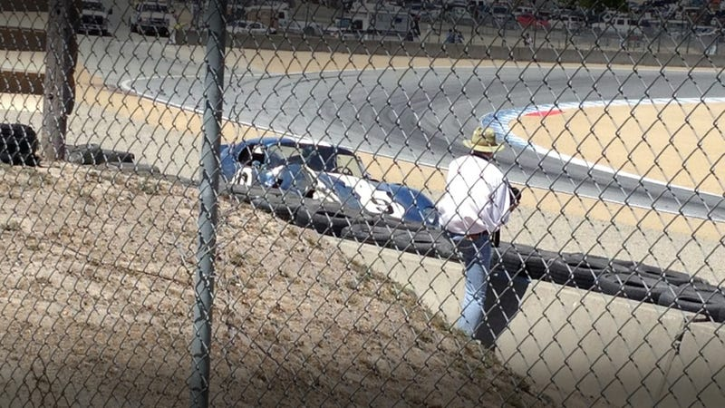 Illustration for article titled $4 Million Shelby Daytona Coupe Crashes At Laguna Seca
