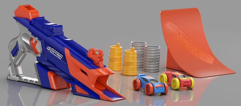 Illustration for article titled Nerf's New Blasters Shoot Tiny Foam Cars Instead of Darts