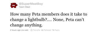 Illustration for article titled Super Meat Boy Responds To PETA Tofu Roast