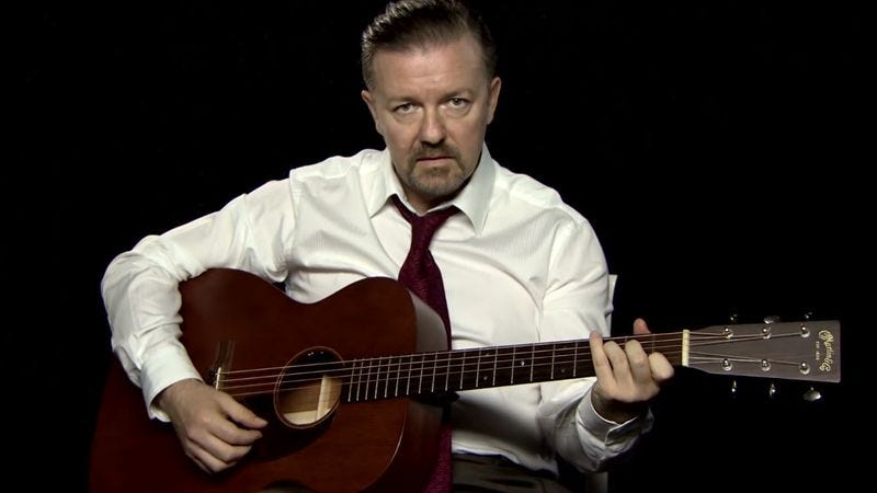 Illustration for article titled Ricky Gervais not giving up on David Brent's rock 'n' roll fantasy