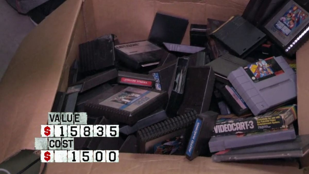 Storage Wars Buyer Finds $45,000 Worth of Classic Games