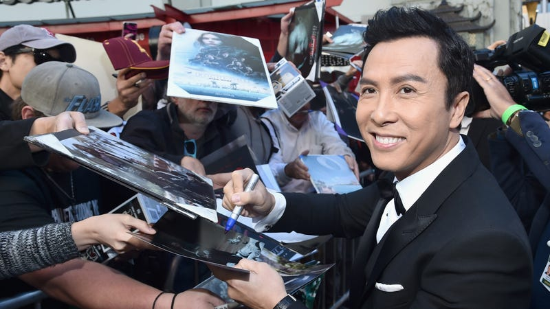 Yen signs autographs at his footprint ceremony at TCL Chinese Theater in Los Angeles.