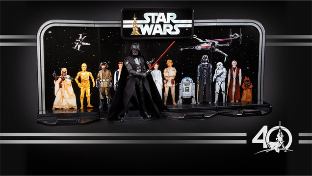 hasbro s 40th anniversary star wars figures are an amazing throwback
