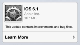 Illustration for article titled Apple Releases iOS 6.1, Improves Siri and iTunes Match