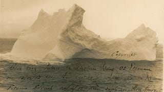 Illustration for article titled The only known photo of the iceberg that sank the Titanic is up for sale