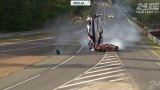 Illustration for article titled Watch Anthony Davidson's Unbelievable Le Mans Crash