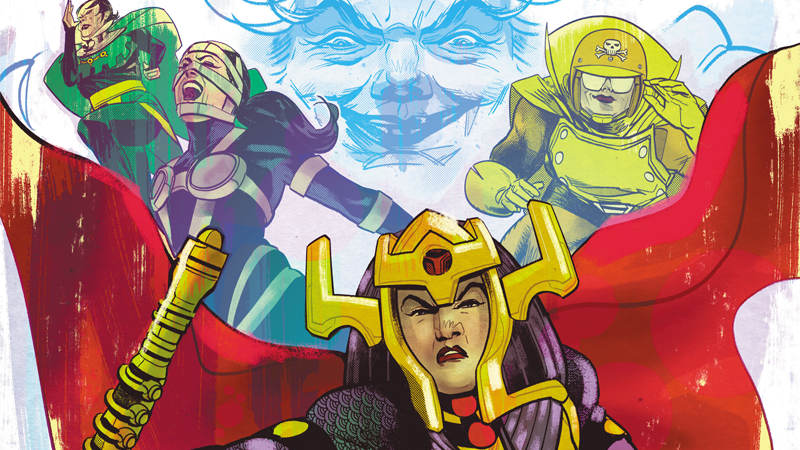 Barda and the Furies take flight in the cover art for the team's first-ever miniseries.