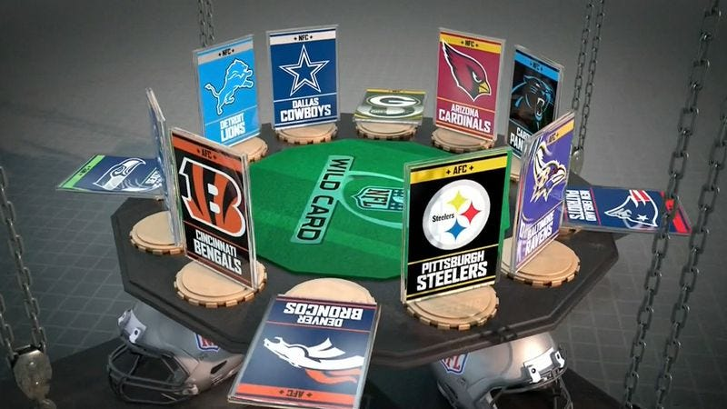 Illustration for article titled ESPN's visual designers showed their best hand for Wild Card Weekend