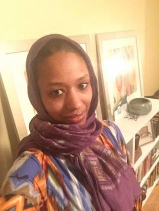 One of the photos Larycia Hawkins posted to Facebook, where she explained why she would be wearing a hijab to express solidarity for MuslimsLarycia Hawkins via Facebook