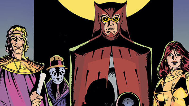 The cover art for the hardcover collection of the original Watchmen.