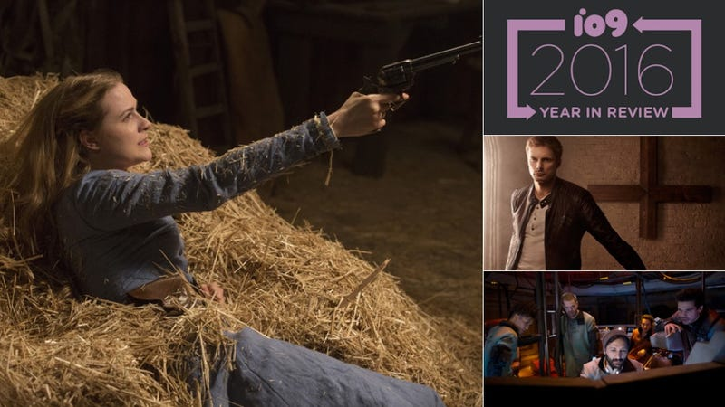 Images: Westworld, HBO; Damien A&E; The Expanse, Syfy