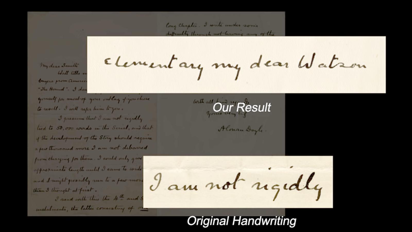 Crean un software capaz de imitar la letra de cualquier persona con solo leer una muestra