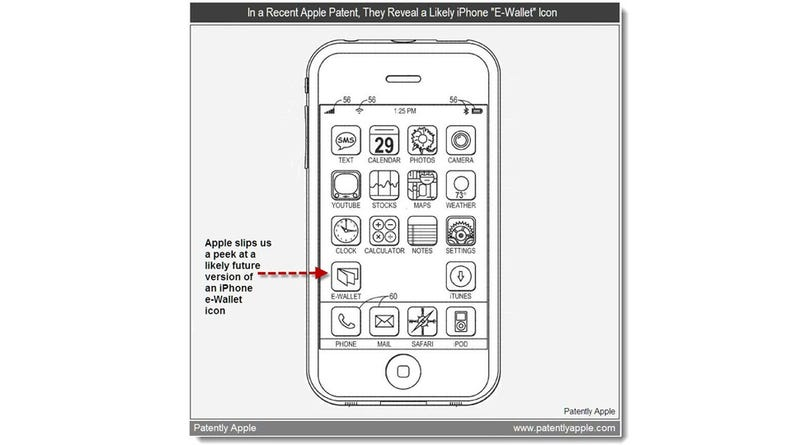 Illustration for article titled Apple Patent Reveals iPhone 5 With NFC Icon