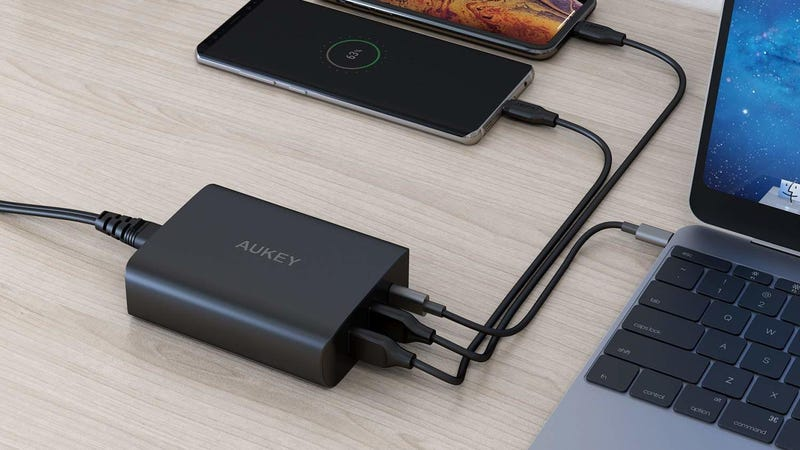 Aukey 60W USB-C Charger with Two USB Ports | $36 | Amazon | Promo code AUKEY5PDAukey 46W USB-C Charger with One USB Port | $24 | Amazon | Promo code AUKEY3PDAukey 6' USB-C Cable | $7 | Amazon | Promo code AUKEY38D