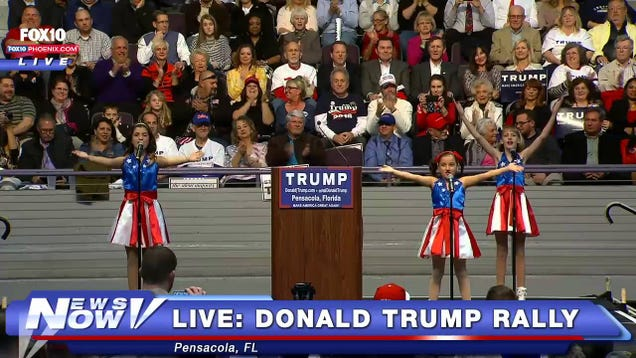 Donald Trump Will Be Sued By the Manager of Those Girls Who Performed That Weird Song At His Rally