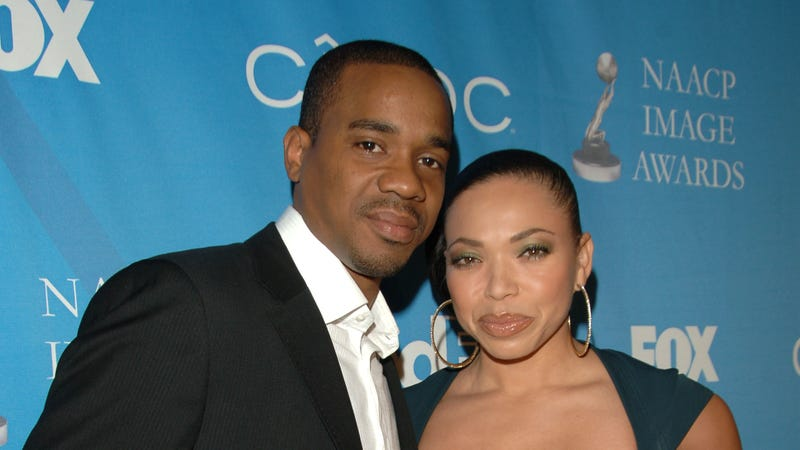 Actor Duane Martin and wife actress Tisha Campbell attend the 38th NAACP Image Awards nominees luncheon February 10, 2007 in Beverly Hills, California.