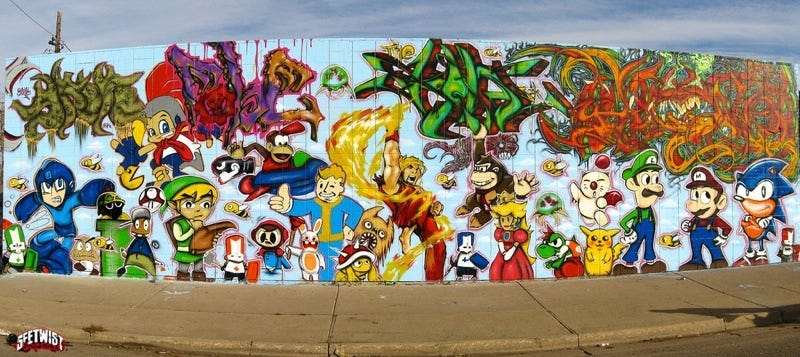 Illustration for article titled Colorado's Gaming Graffiti Wall
