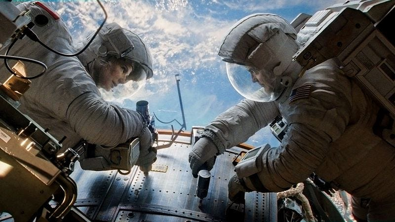 Illustration for article titled Weekend Box Office: Successfully launchedGravity readiesdeployment of space metaphors