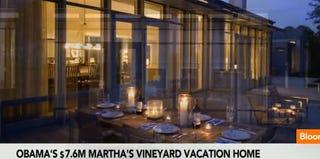 The Obamas' Martha's Vineyard vacation spot (Bloomberg screenshot)