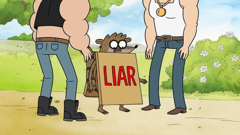 "Illustration for article titled Regular Show: ""Expert Or Liar"""