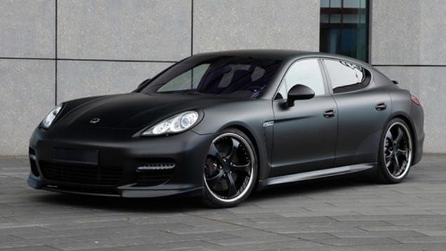 techart porsche panamera matte black is so slimming