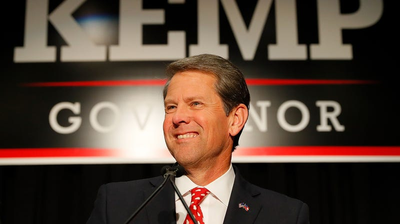 Illustration for article titled Brian Kemp Takes a Voter Suppression Victory Lap