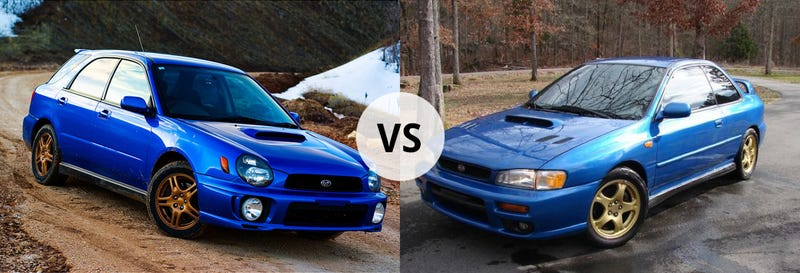 Illustration for article titled Which Subaru? 2001 2.5RS Vs. 2002 WRX