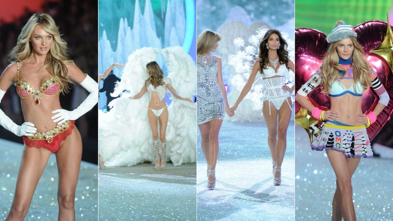 Illustration for article titled Emoji Lingerie and Snow Angels at the Victoria's Secret Fashion Show