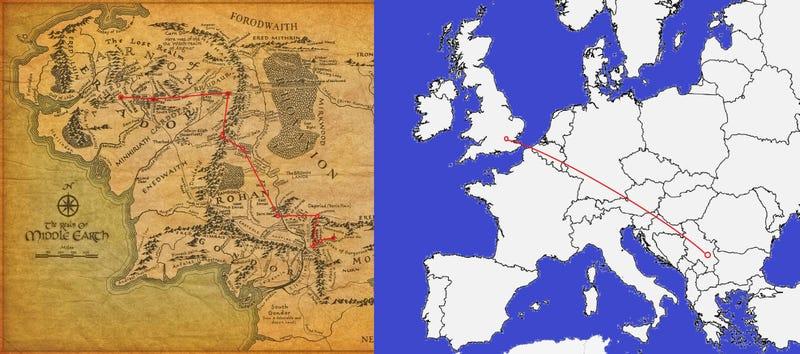 ¿Cuánto caminaron en realidad Frodo y Sam en El Señor de los Anillos?