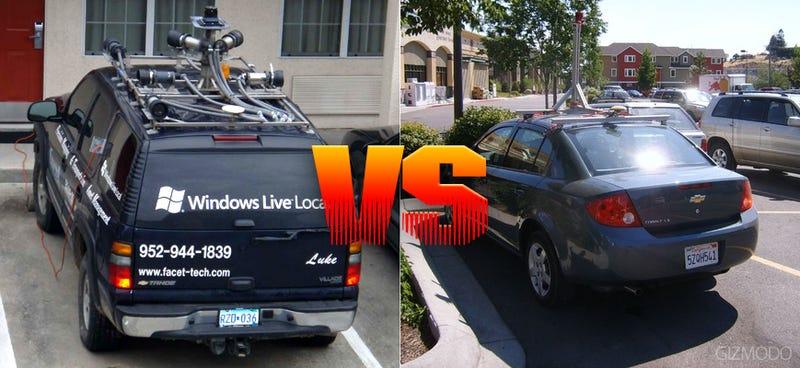Microsoft\'s Local SUV Armada vs Google\'s Streetview Fleet