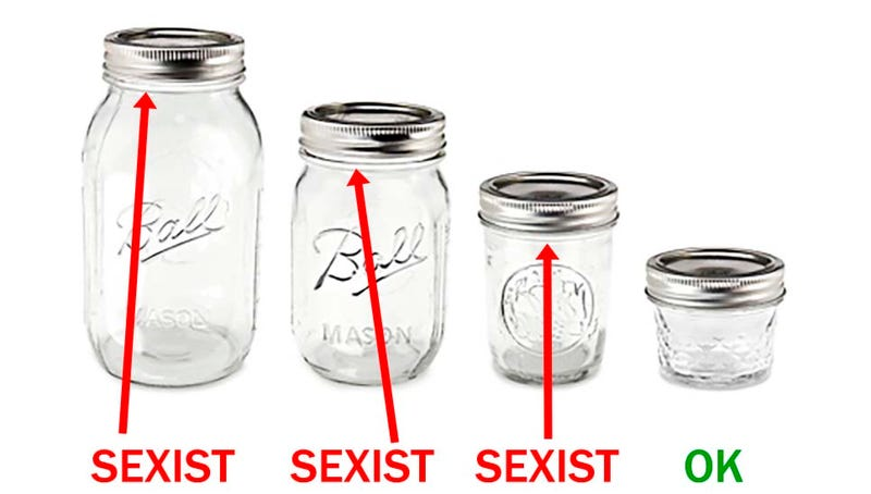 Illustration for article titled Mason jars are sexist.