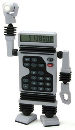 Illustration for article titled ThinkGeek's Calculator Bot May Love You