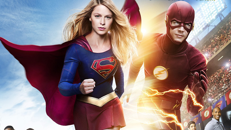 Illustration for article titled The First Official Look at the Flash/Supergirl TV Crossover Is Also a Fun Easter Egg