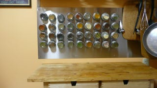 Illustration for article titled Mount a Magnetic Spice Rack for Easy Access