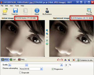 Illustration for article titled Radical Image Optimization Tool Provides Side by Side Image Comparison