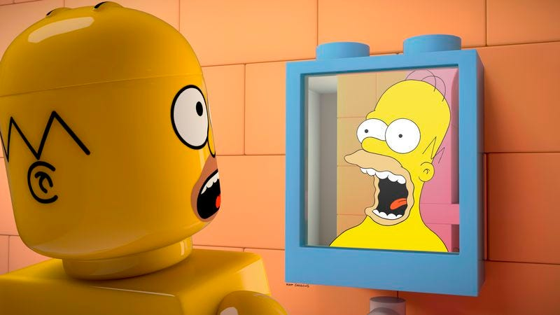 Illustration for article titled A Lego Simpsons episode that, inexplicably, doesn't feature the Simpsons Legos