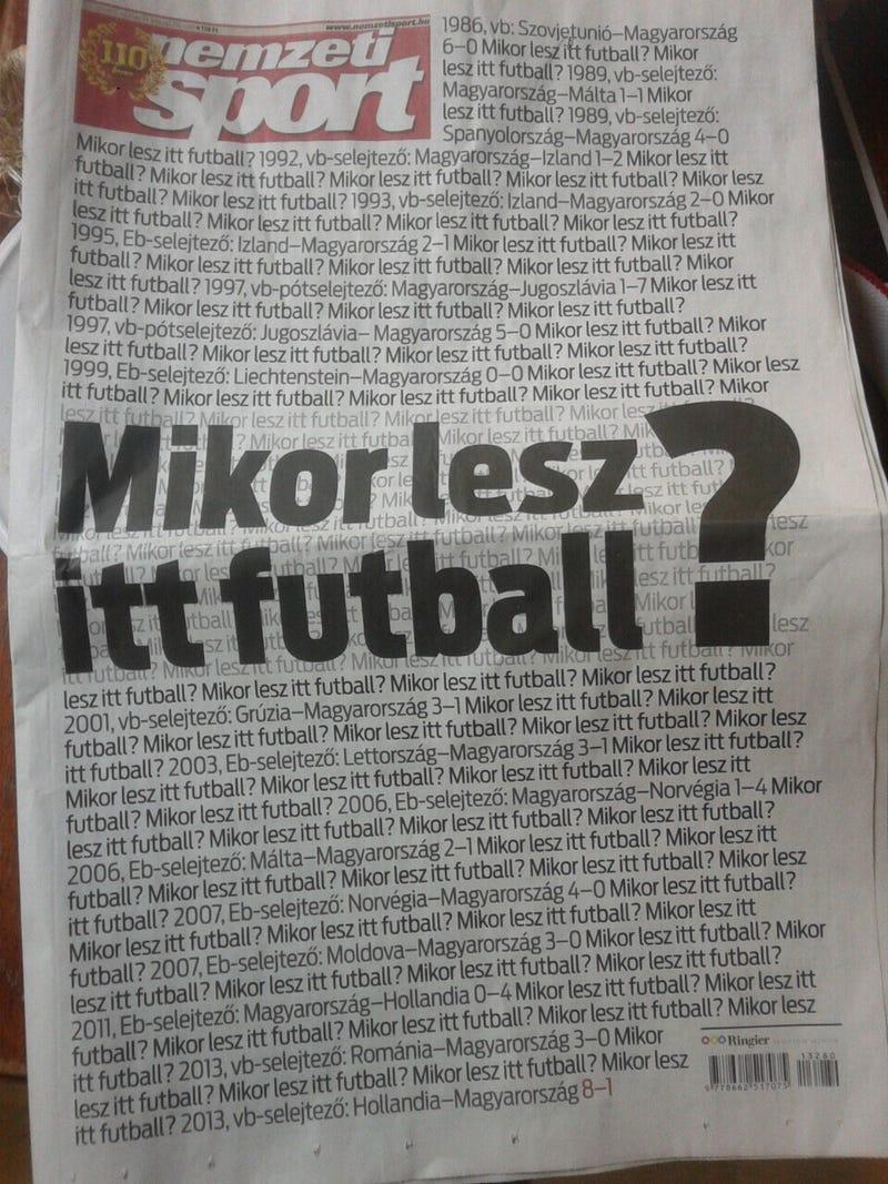 Illustration for article titled A magyar napilaptörténet legcikibb címlapja [frissítve]