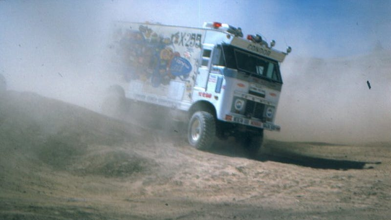 Illustration for article titled This Insane, Off-Roading Motorhome Ran The Baja 1000