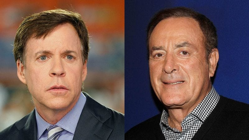 Illustration for article titled Al Michaels, Bob Costas Not Even Sure Who's Who Anymore