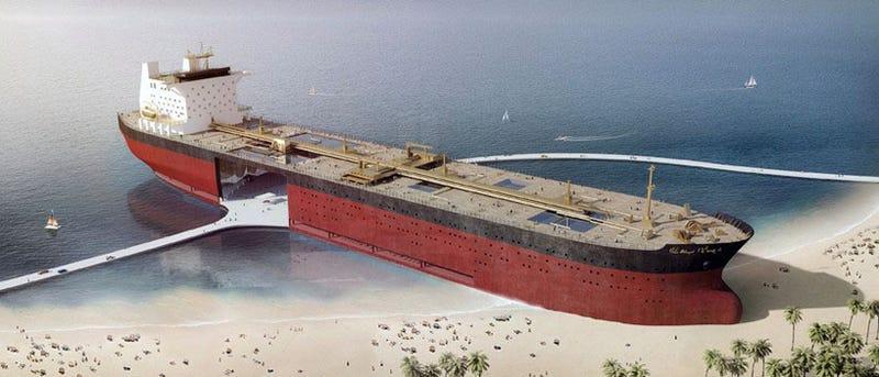 Illustration for article titled Proponen transformar petroleros varados en edificios costeros multiusos