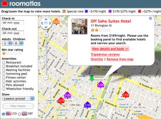 Illustration for article titled RoomAtlas Puts Hotel Searches on a Google Map, Is Awesome