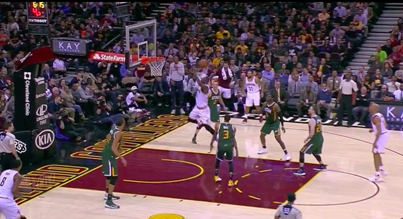 Illustration for article titled There Wasn't Anything George Hill Could Do About This LeBron Dunk