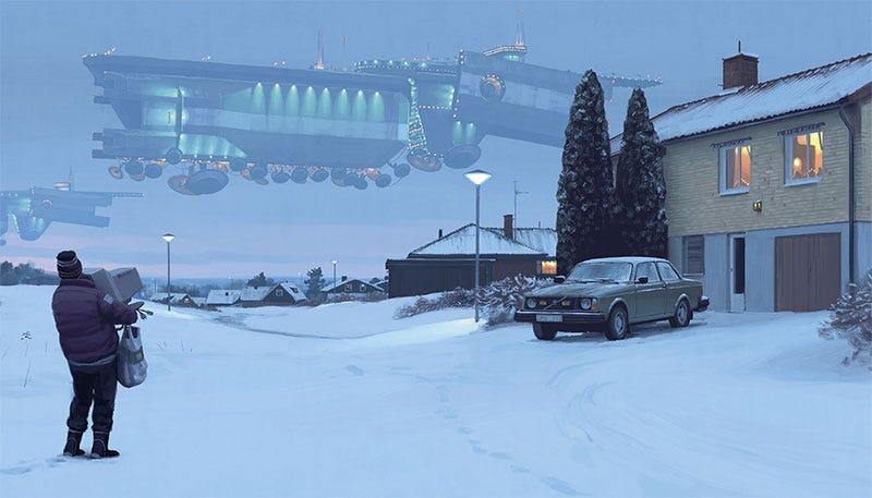 Illustration for article titled More Beautiful Sci-Fi Art From Simon Stålenhag