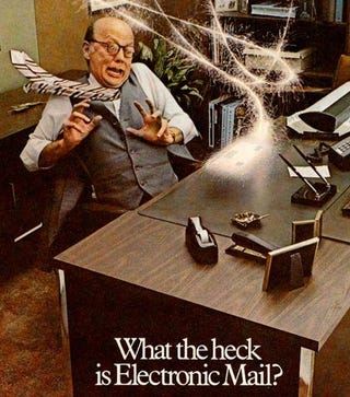 Illustration for article titled Holy Crap, Email Was Scary in the 1970s!