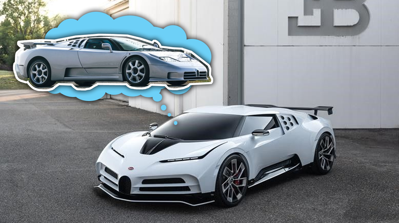 Illustration for article titled Here's The Bugatti EB110-Inspired Centodieci Before You're Supposed To See It