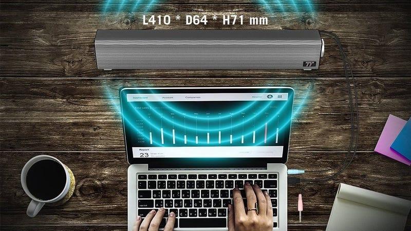 TaoTronics Mini USB-Powered Sound Bar | $23 | Amazon | Promo code KINJA147