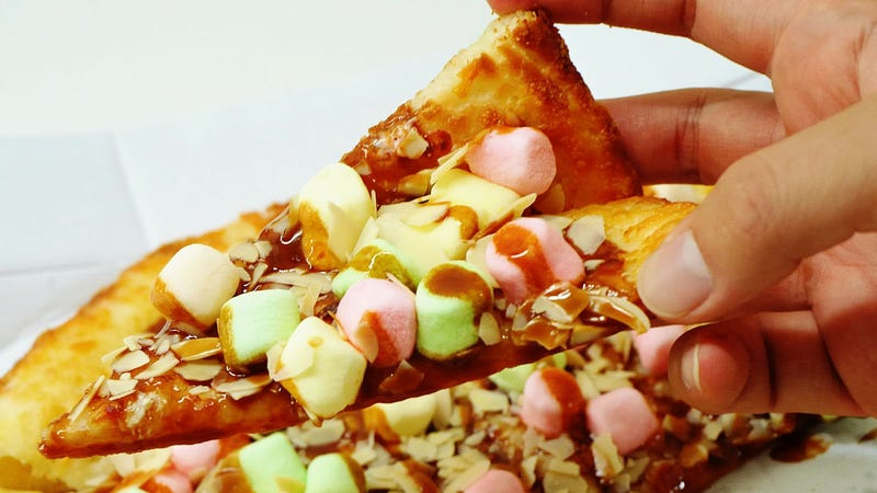 Illustration for article titled Pizza Hut Is Releasing a Caramel Marshmallow Pizza in Japan