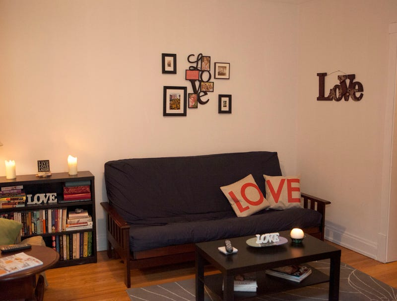 Illustration for article titled 45% Of Items In Woman's Apartment Have Word 'Love' Written On Them