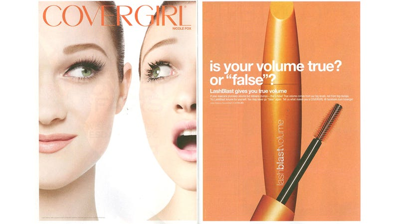 "Illustration for article titled Mascara Ad Uses False Lashes To Convince You Of ""True"" Volume"